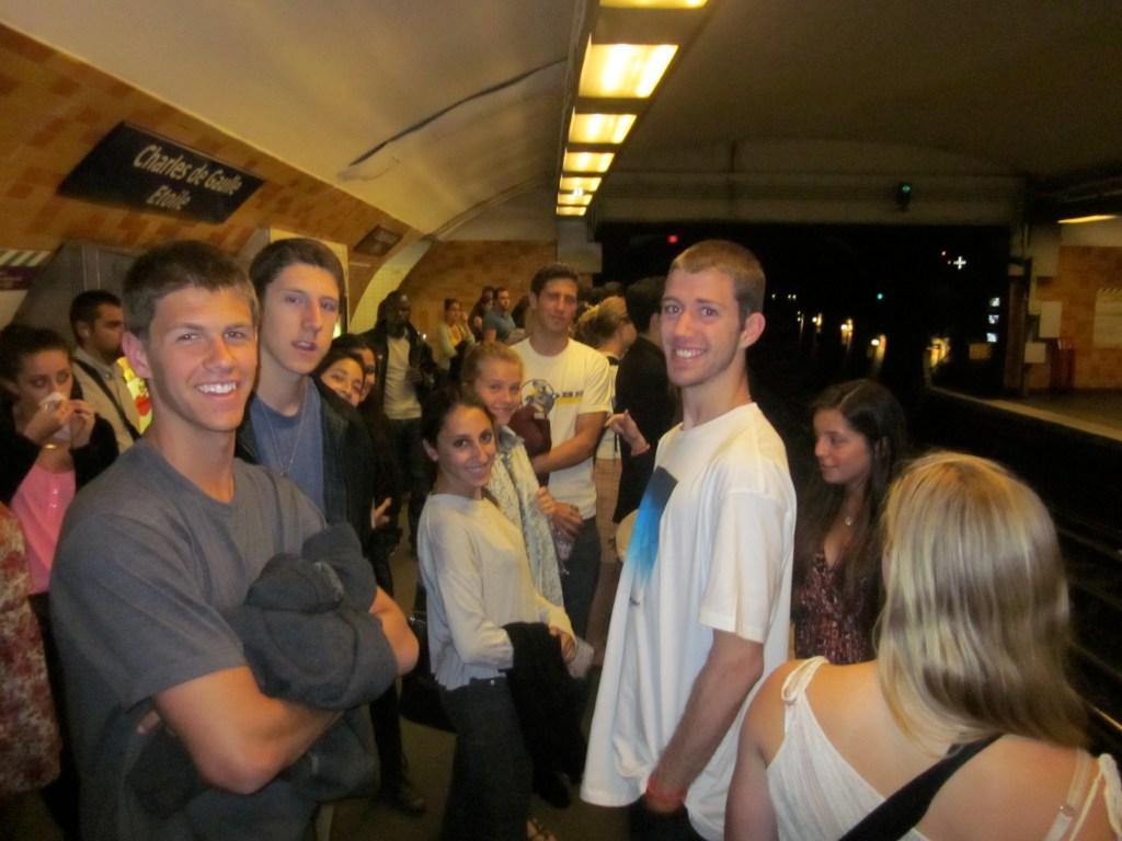 Twintig inside subway station