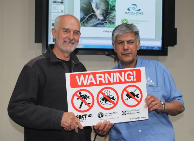 4.Angling Trust Ambassador Mick Brown and Fisheries Enforcement Manager Dilip Sarkar at the recent East of England Fisheries Enforcement Workshop.