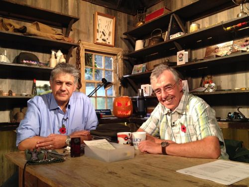 12.Dilip Sarkar in the bothy with Keith Arthur at Sky Sports in November 2014 – talking about his passion for river pike and zander, and promoting the all-important Severn Basin Predator Study (please see: http://linesonthewater.anglingtrust.net/2014/06/26/new-predator-study-can-reveal-much-about-our-rivers/)