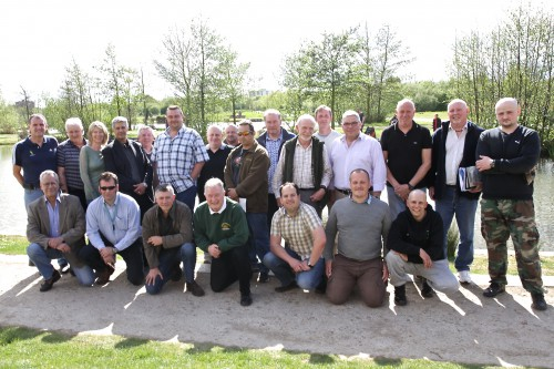 Angling Trust, EA and NWCU staff with existing and new Volunteer Bailiffs after the training day at Get Hooked on Fishing in April 2015.