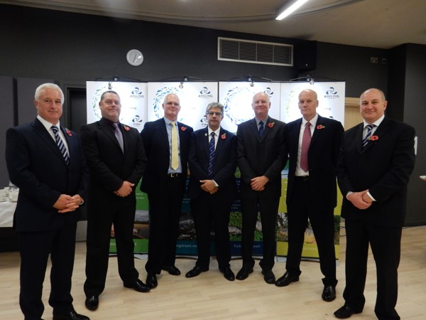 National Enforcement Manager Dilip Sarkar (centre) with our new six Regional Enforcement Managers; from left: Gary Lawless (London & SE), Paul Thomas (Eastern), Nevin Hunter (SW), Kevin Pearson (Midlands), Dave Lees (NW) and Giles Evans (NE).