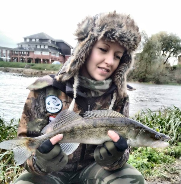 4.Although the rivers have been high, Building Bridges Project Officer and passionate angler Patrycja Bury has nonetheless still been out there!