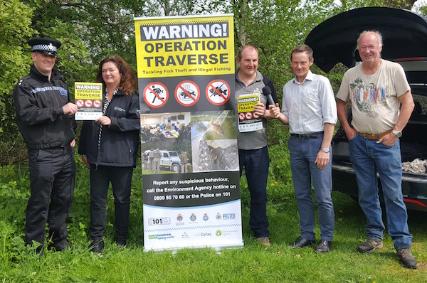 With the Police, Environment Agency and the BBC Radio team