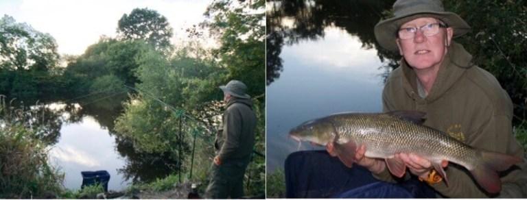 Rowley and Fenemere Angling Club barbel fishing near Shrewsbury