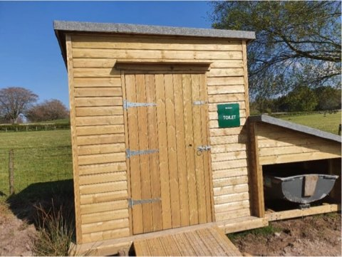 Sustainable eco composting toilets for fishery