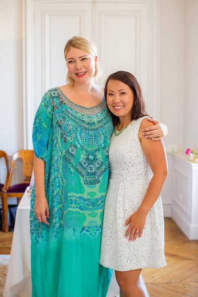 Rebecca Campbell and Ling Abson in Paris