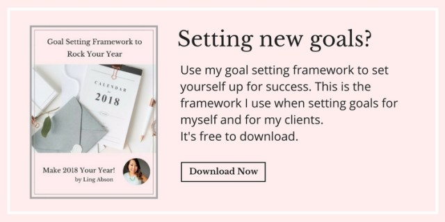 free worksheet to help you set your goals