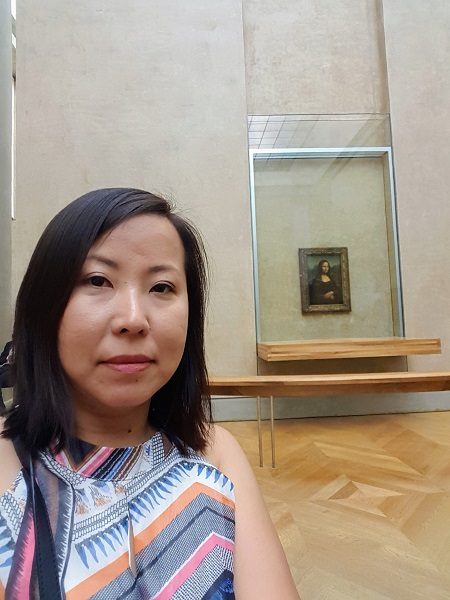 Mona Lisa at the Lourve Museum by Ling Abson