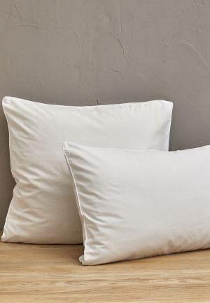 percale lavée blanc saline