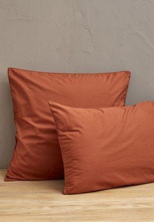percale lavée orange argile