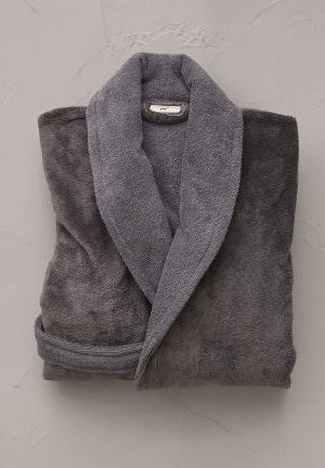 kimono bi-matiere gris