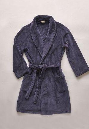 kimono polaire homme bleu pénombre