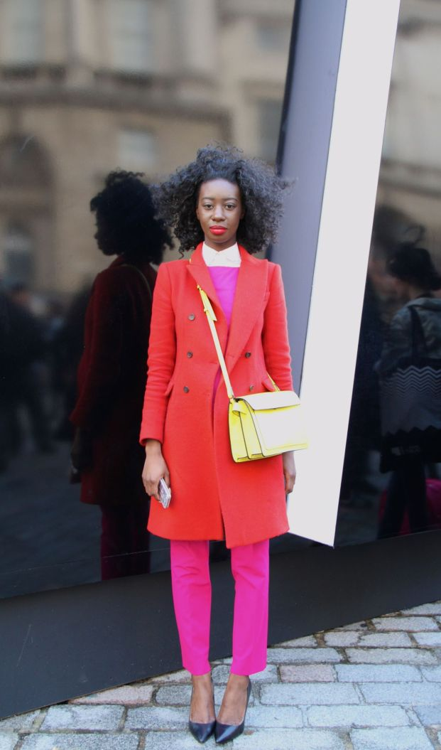 Annette-Boateng-from-Hot-Happenings-London-street-style-London-fashion-week-Style-Barista-pink-pants-pink-trousers