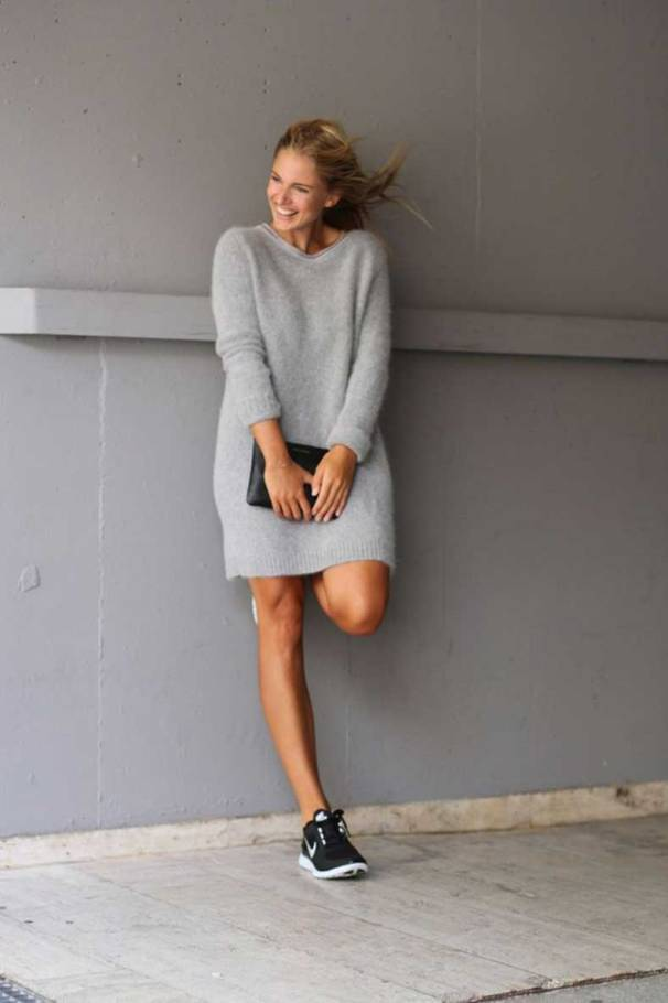sweater-dress-outfits-pinterest-street-style-grey-mohair-sweater-dress-black-clutch-and-nike-dresses-gallery