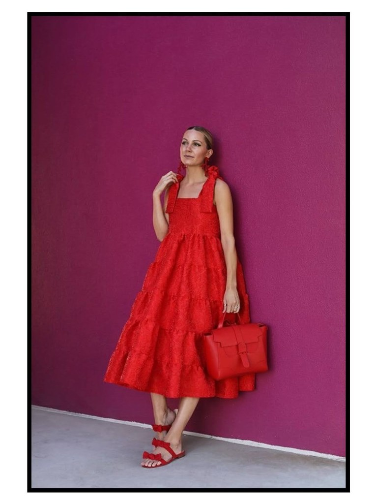 total red look