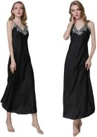 Women's Nightdress Lace Satin Nightgowns Long Chemise Sleepwear. Sexy low v-neck with lace detail makes you mo re feminine, charming and chic. Fri, 27 Aug 2021 12:00:35 +0400