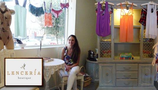 Juliana Correa, owner of Lenceria Boutique