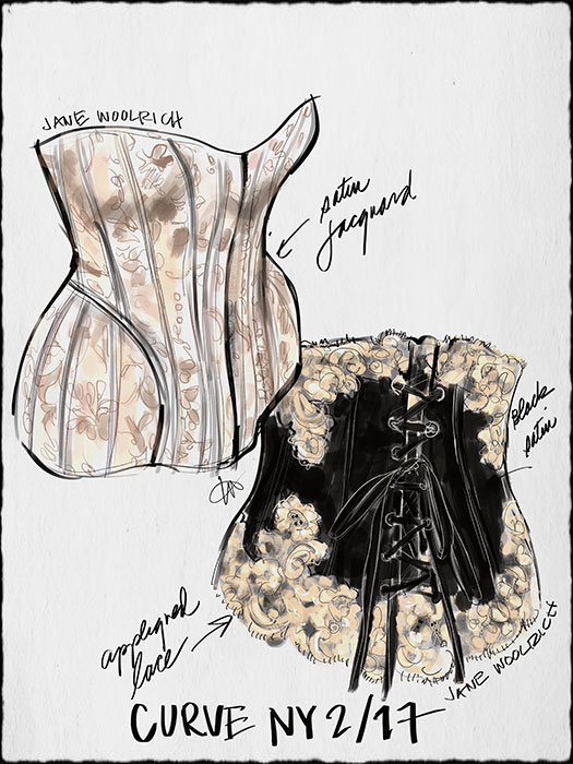 Fashion Illustrations by Tina Wilson on Lingerie Briefs