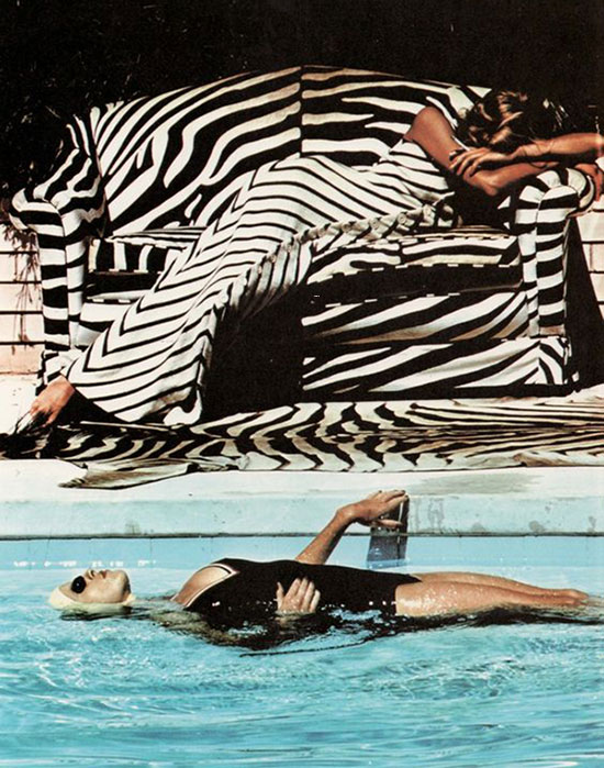 Helmut Newton 1973 fashion photography on Lingerie Briefs