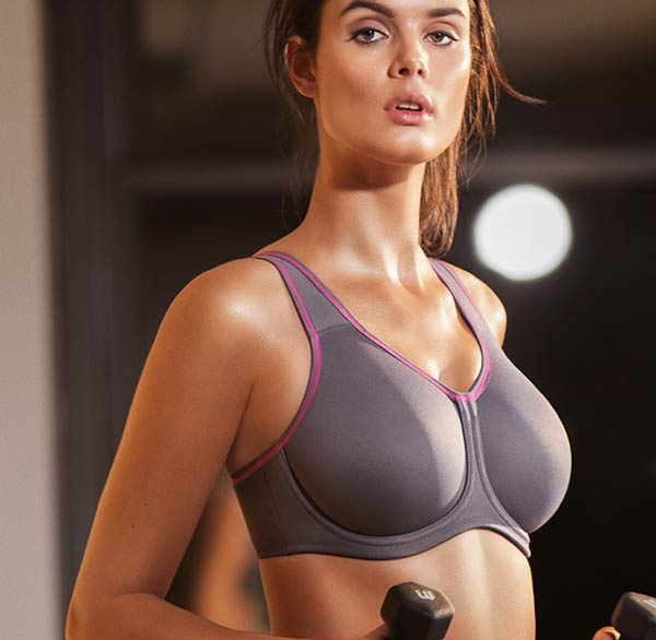 Wacoal underwire sports bra on Lingerie Briefs