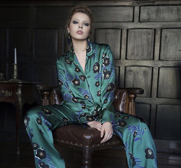 Violet & Wren silk loungewear on Lingerie Briefs