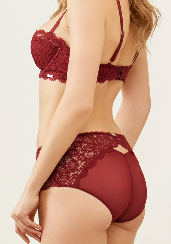 balconette bra and boyshort Keyhole Collection by Montelle Intimates
