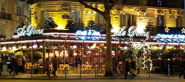 Le Dome in Paris - Ellen Lewis of Lingerie Briefs