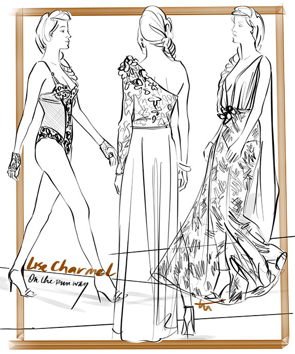 The Bodysuit from Lise Charmel illustrated by Tina Wilson on Lingerie Briefs