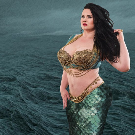 MariLupa couture lingerie in larger sizes - Mermaid lingerie