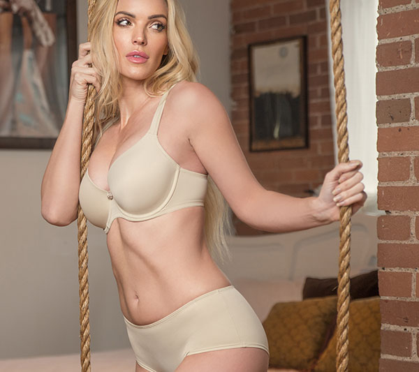 fit Fully Yours Sweetheart Smooth Bra and panty on Lingerie Briefs