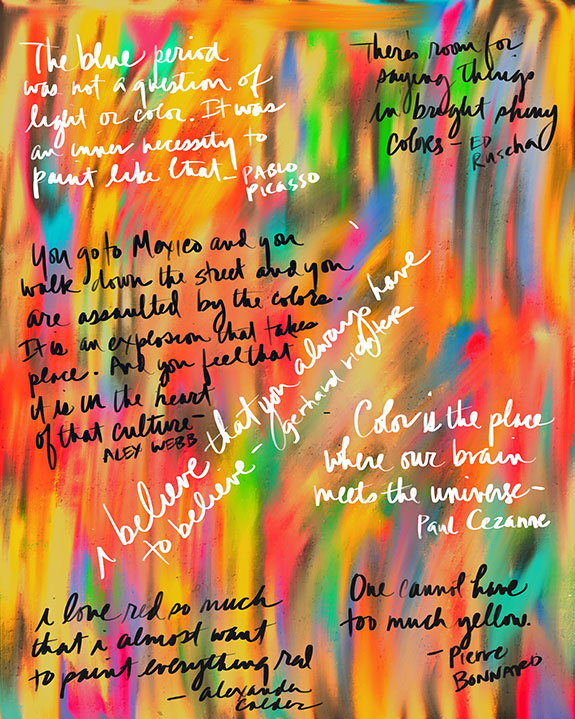 Artists quotes illustration by Tina Wilson for Lingerie Briefs: Color My Mood