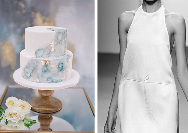 Cake photo by Jillian Rose Photography, Minimalist wedding dress on Lingerie Briefs