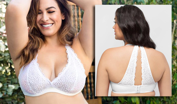 Curvy Couture's Crochet Lace Halter Bralette is a plus size bride's dream! - seen on Lingerie Briefs