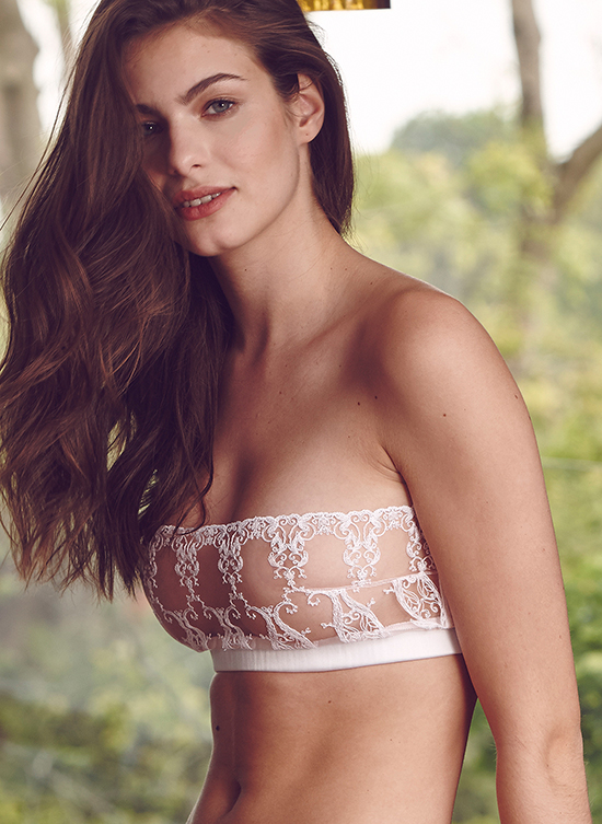 Fleur of England's Stunning Collette strapless boudoir bra and brief featured on Lingerie Briefs