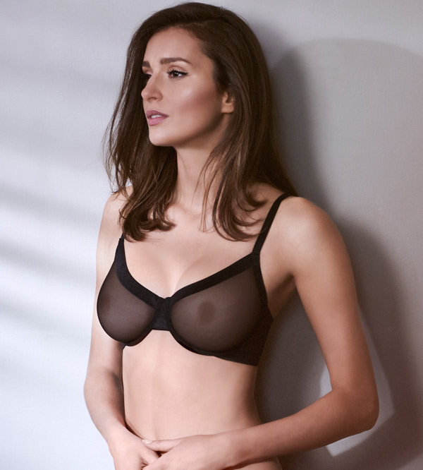 Infinite Sheer Unlined Demi Bra featured on Lingerie Briefs
