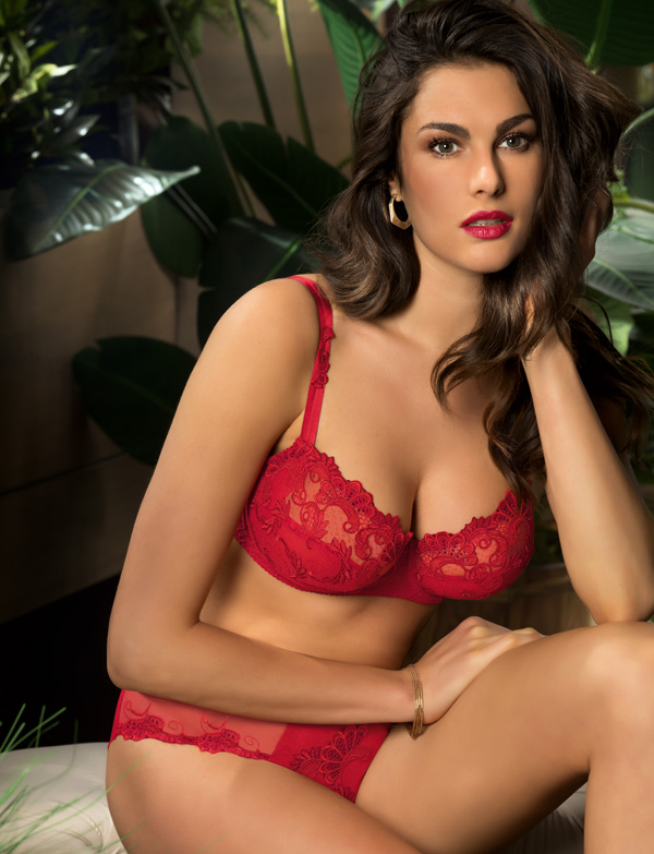 "Coming soon - Lise Charmel Dressing Floral in ruby shade ""Dressing Solaire"" featured on Lingerie Briefs"