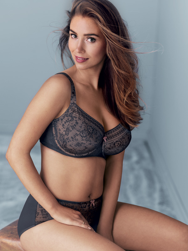 Rosa Faia FLEUR Underwire bra in new color: Anthracite featured on Lingerie Briefs