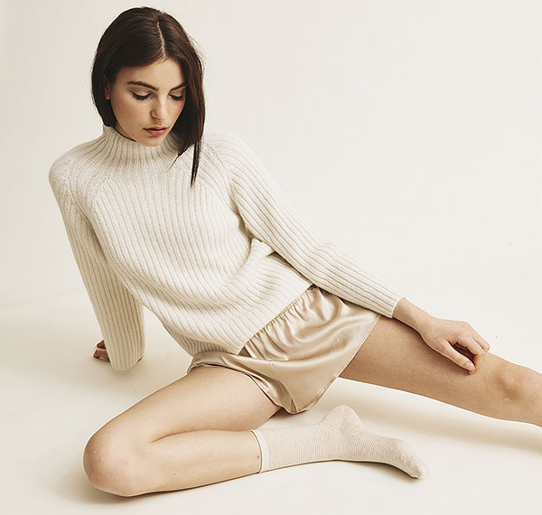 Skin silk lingerie on Lingerie Briefs
