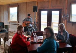 Listening to Robbie Limon at a local winery