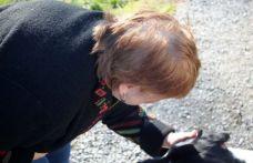 Carole loving on a doggy