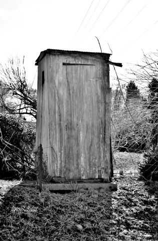 Local Outhouses in Black and White# (1)