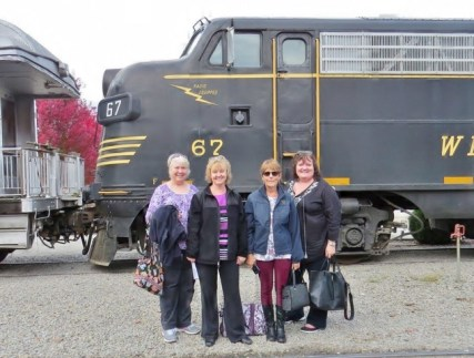 My friends and I boarding the train in Elkins West Virginia