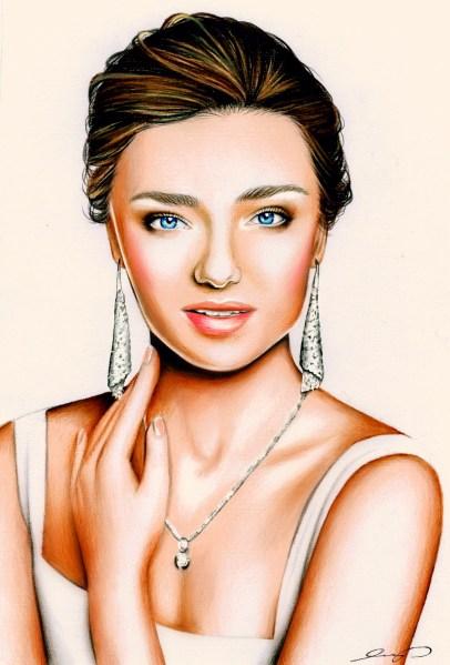 Miranda Kerr Swarovski Drawing by Ling McGregor