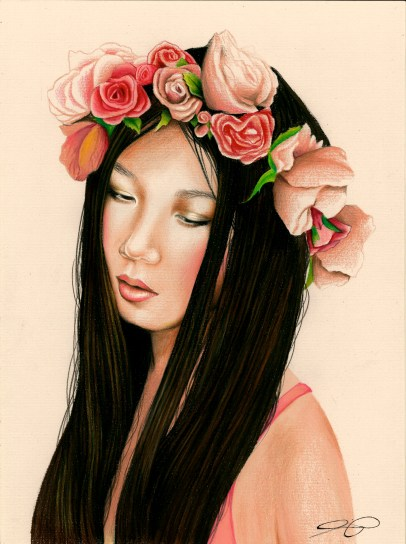 Prismacolour pencil drawing by Ling McGregor