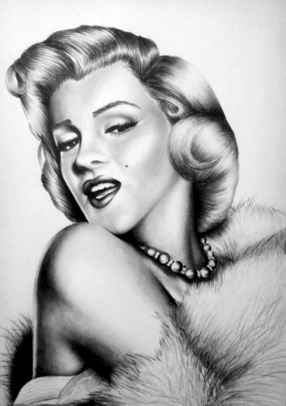 Marilyn Monroe Drawing by Ling McGregor