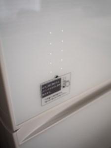 冷蔵庫のタッチパネル