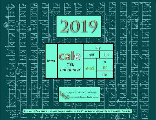 LEX 2019 calendar cover