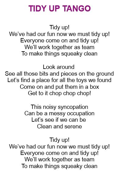 детские песни на английском - Tidy up tango