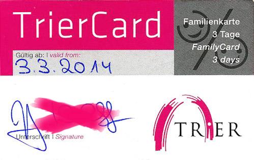Ermäßigungen mit der TrierCard