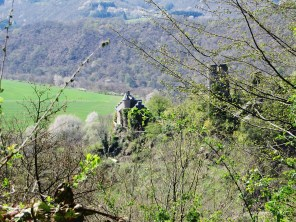 Blick auf die Burg Falkenstein.